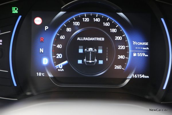 Hyundai Santa Fe Allradanzeige