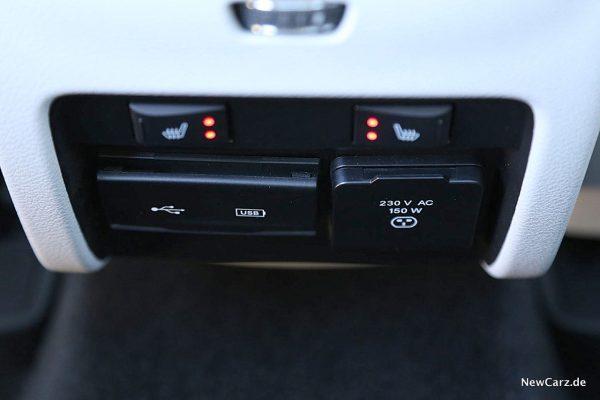 Jeep Cherokee Sitzheizung hinten
