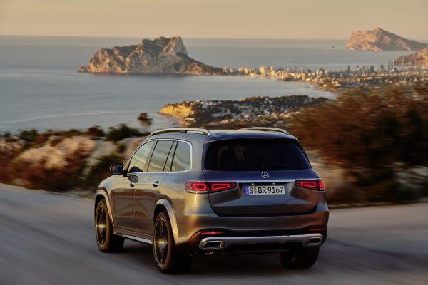 Heckansicht des neuen Mercedes-Benz GLS