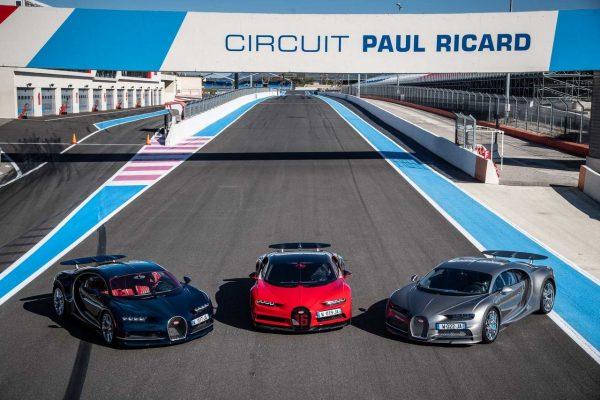 Bugatti Chiron auf Circuit Paul Ricard