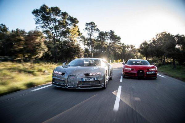 Bugatti Chiron auf öffentlichen Straßen