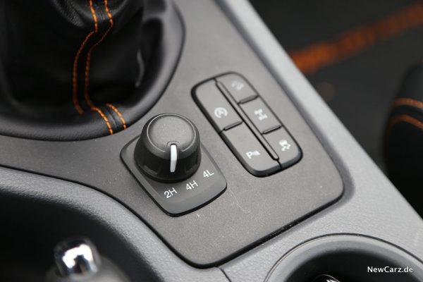 Ford Ranger Wildtrak Allradzuschaltung