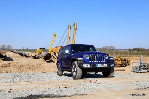 Jeep Wrangler Baustelle