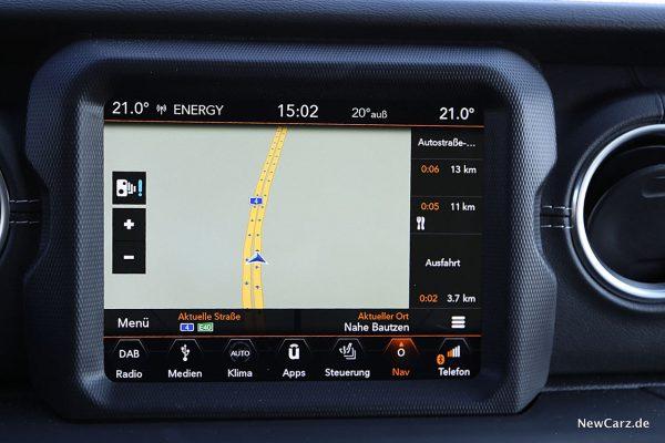 Jeep Wrangler Bildschirm