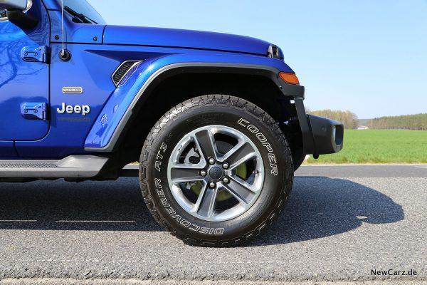 Jeep Wrangler Vorderrad