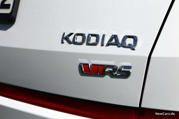 Skoda Kodiaq RS Typenschild Heck