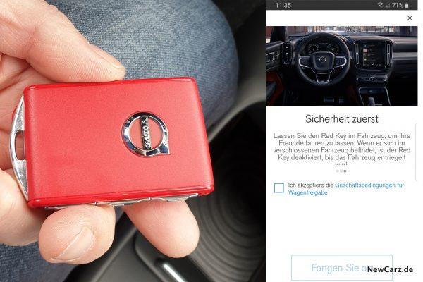Volvo XC40 Red Key