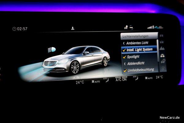 Mercedes-Benz Multibeam LED-Scheinwerfer Menü