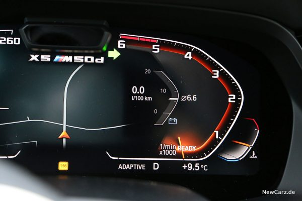 BMW X5 M50d Verbrauch minimal