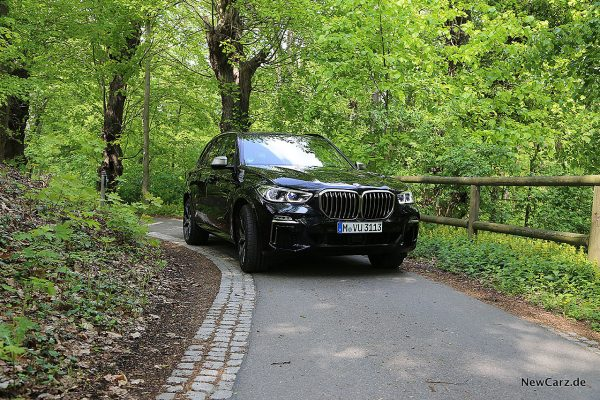 BMW X5 M50d in Kurve