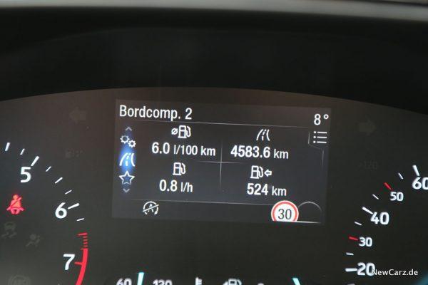 Ford Focus ST-Line Verbrauch