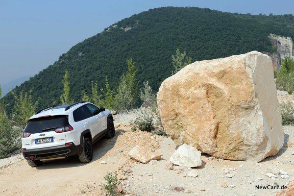 Jeep Cherokee Trailhawk Offroad-Kulisse