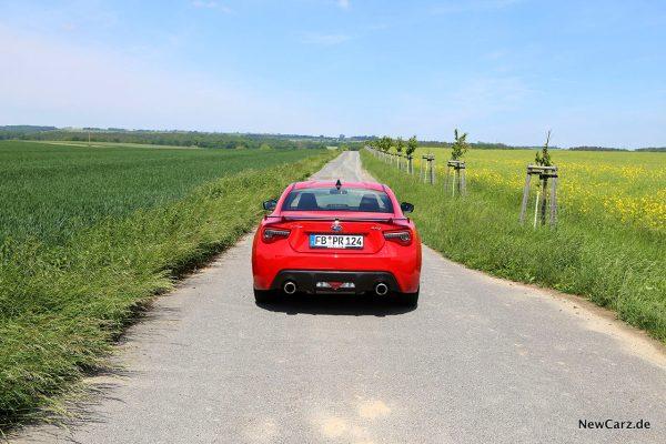 Subaru BRZ hinten oben
