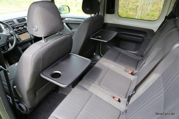 VW Caddy Alltrack Fondbereich
