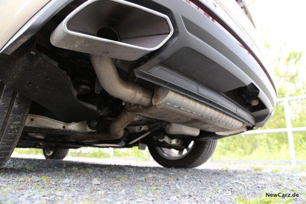 VW Touareg Endrohre