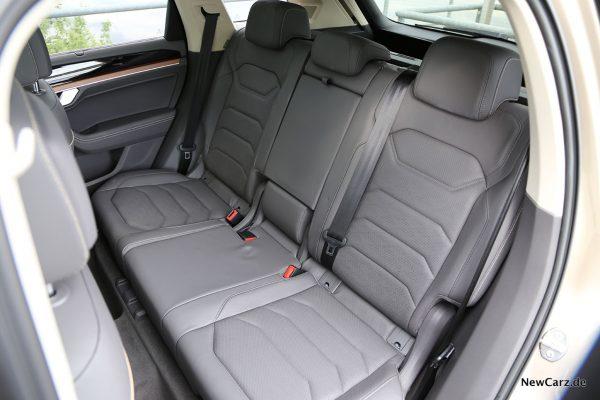 VW Touareg III Rücksitzbank