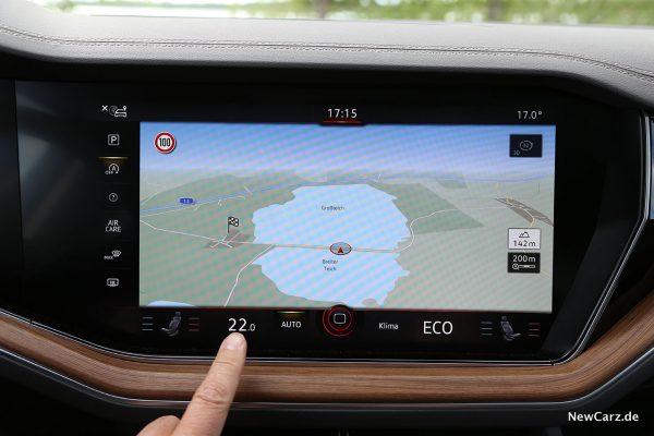 VW Touareg Klimabedienung