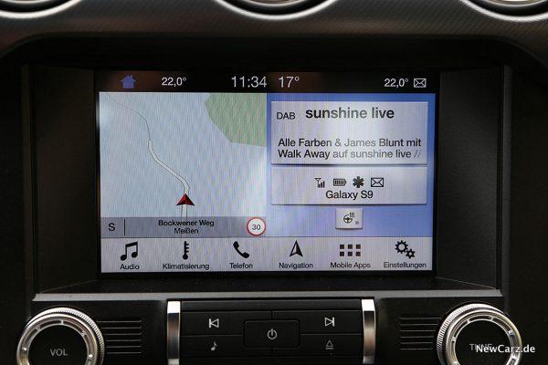 Ford Mustang GT Bildschirm