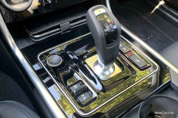 Wahlhebel im Jaguar XE
