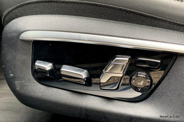 BMW 730d xDrive Sitzverstellung