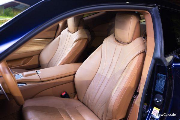 Lexus LC 500 Vordersitze
