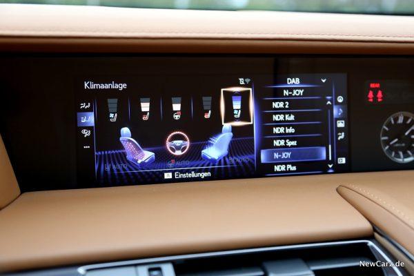 Lexus LC 500 Sitzheizung