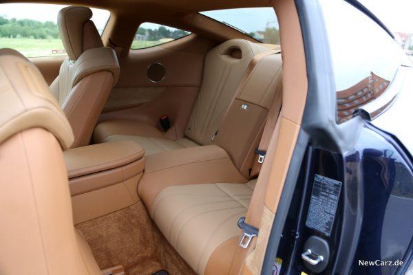 Lexus LC 500 Rücksitze