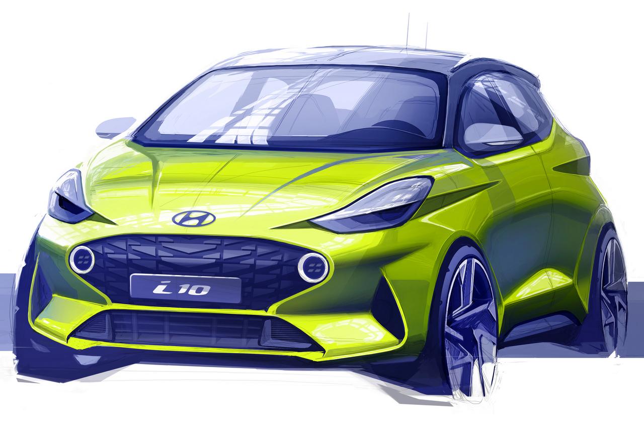Hyundai i10 2020 Skizze