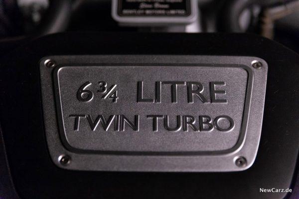 Bentley Mulsanne EWB Motor Plakette