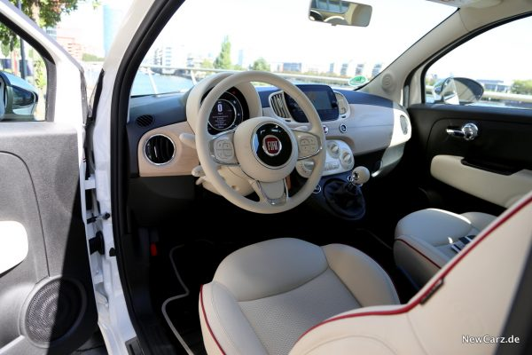 Fiat 500 Dolcevita Hybrid Innenraum