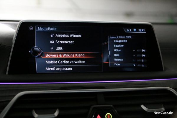 BMW 7er Bowers Wilkins