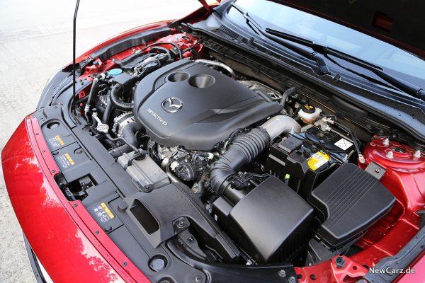 Motorraum 6er Mazda mit D 184.