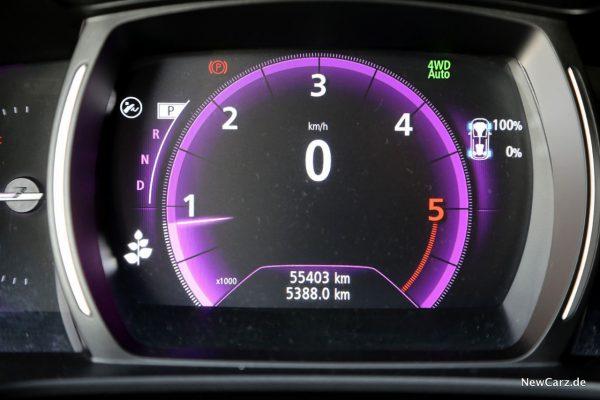 km-Stand Renault Koleos Dauertest