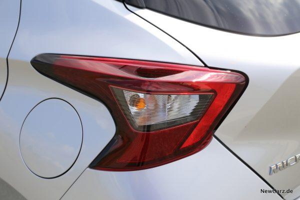 Heckleuchten Nissan Micra Tekna