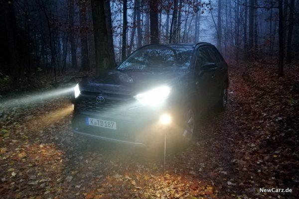 Toyota RAV4 Hybrid mit Licht