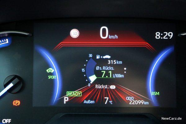 Verbrauch RAV4 Hybrid