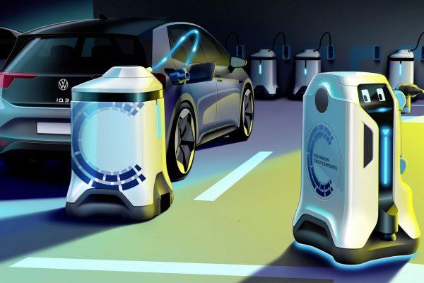 Volkswagen Laderoboter Ladevorgang