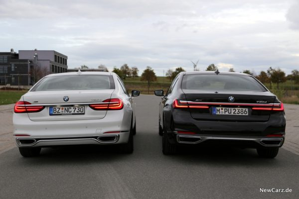 BMW 7er G11 Heck Vergleich