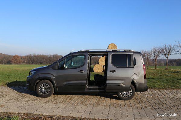 Peugeot Rifter L2 mit offenen Schiebetüren