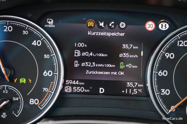 Maximale Reichweite Bentayga Hybrid
