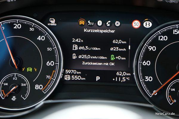 Verbrauch Bentayga Hybrid