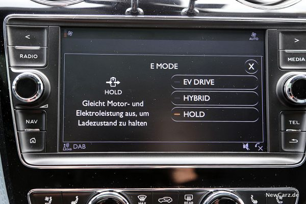 Center-Screen Bentayga Hybrid