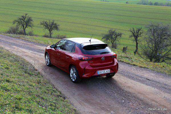 Opel Corsa GS Line schräg hinten oben links