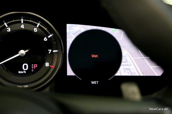 Porsche Wet Mode aktiviert