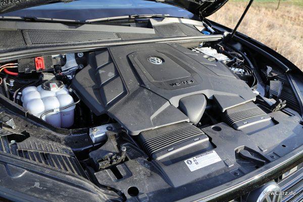 VW Touareg V6 TSI Motorraum