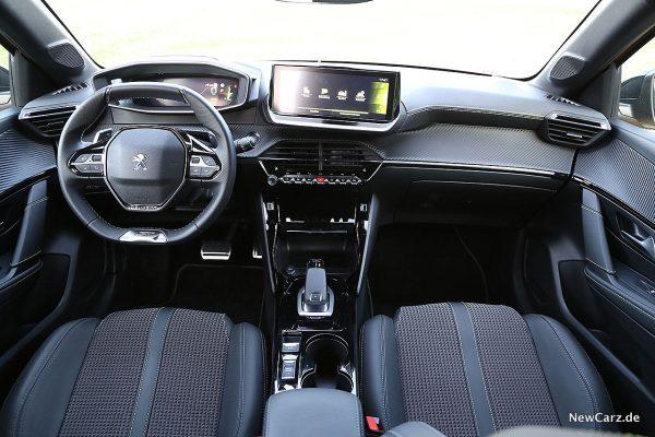 Interumententafel Peugeot 208