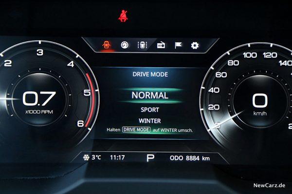 Drive Mode SsangYong Korando 4WD