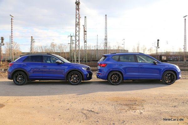Vergleich VW T-Roc gegen Cupra Ateca