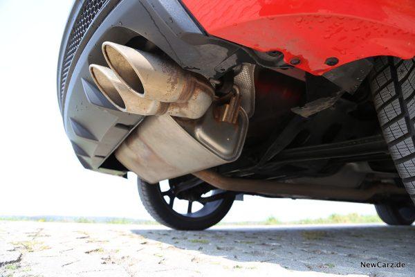 Fiat 500X Sport Endrohre