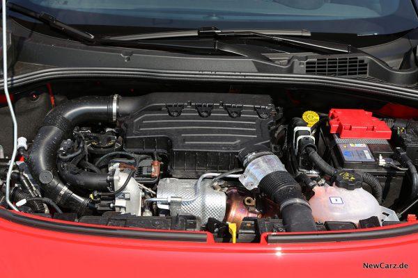 Motorraum Fiat 500X Sport